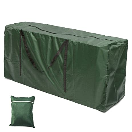 Hootech Patio Cushion Storage Bag Waterproof Cushion Cover Outdoor  Furniture Seat Protector With Zipper Durable And