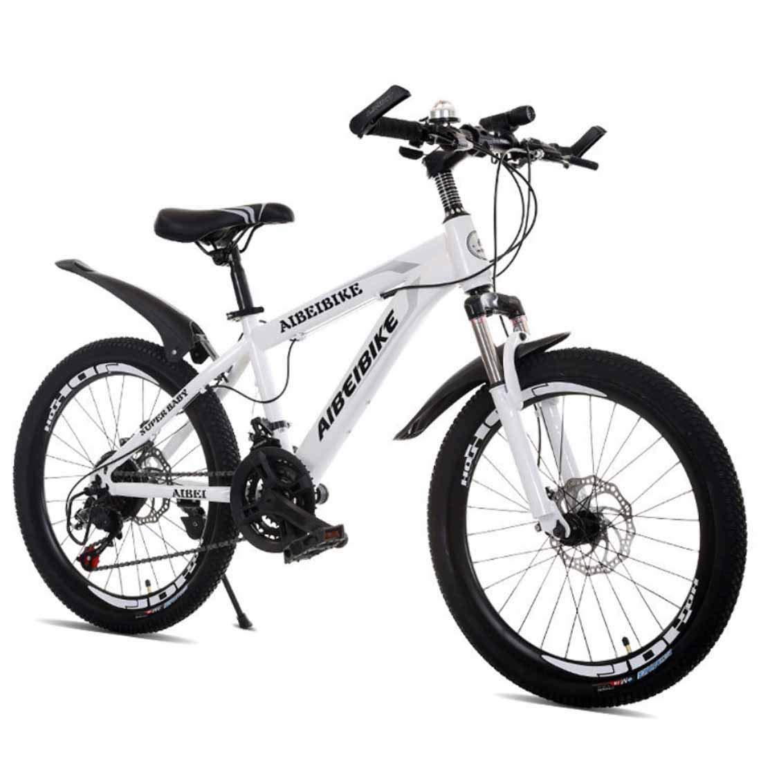 バイク24スピードロードバイクロードバイクロードバイクデュアルディスクブレーキ自転車 白い 26inches