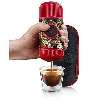 Amazon.com: Wacaco Nanopresso Portable Espresso Maker bundled with Protective Case, Tattoo Jungle Patrol Edition, Extra Small Travel Coffee Maker, ...