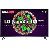 "Smart TV LG 50"" 4K NanoCell WiFi Bluetooth HDR Inteligencia Artificial ThinQAI Google Assistente Alexa IOT"
