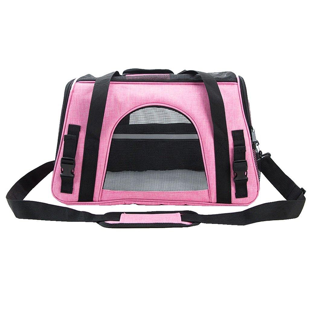 Pet Bag Outdoor Pet Carrier Backpack Portable Travel Single Shoulder Bag Carrier Hiking Mesh Comfortable Breathable Handbag Pink Pet Travel Bag