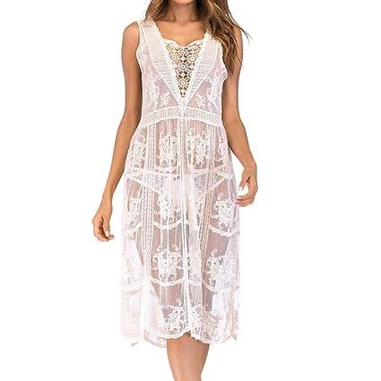 Fuxitoggo Traje de baño Cubrirse para las mujeres Playa Loreal Root Kimono Bikini Tanga Crochet para ...