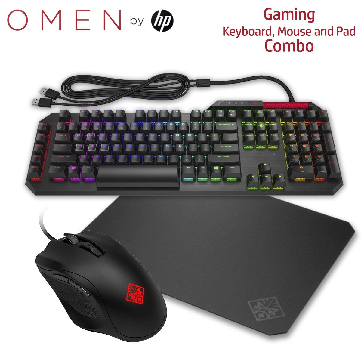 HP OMEN Gaming Combo Sequencer Keyboard Mouse and Mousepad