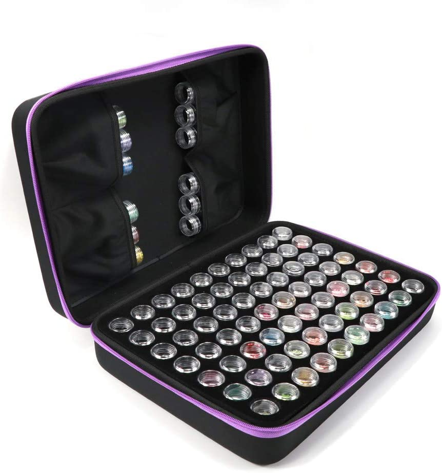 70 Slots 42//70 Slots Diamond Painting Case Plastic Beads Storage Container Box Multi Storage Diamond Embroidery Box Accessory Cover Beads Display Small Parts Jewelry Organizer Travel Bag