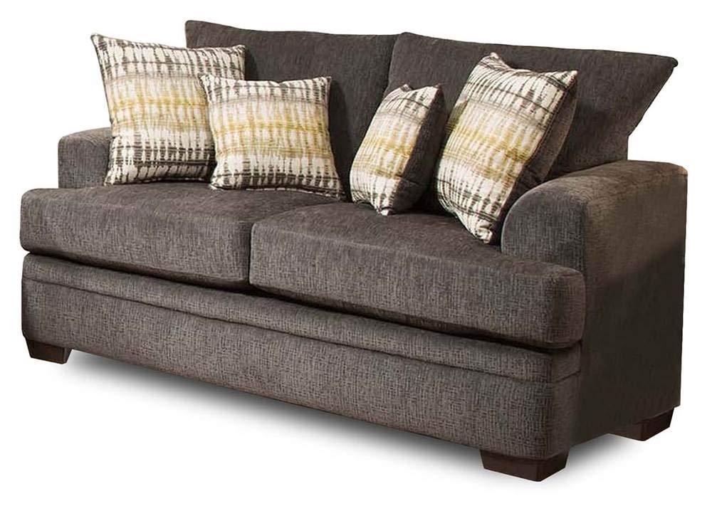 Tremendous Amazon Com Chelsea Home Louis Sofa In Perth Smoke Kitchen Machost Co Dining Chair Design Ideas Machostcouk