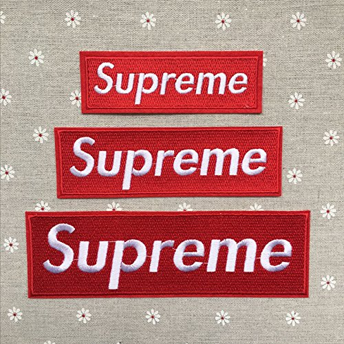 3 Pack Supreme Patches Sew on or Iron on Multi Size Patch Embroidered DIY Appliq