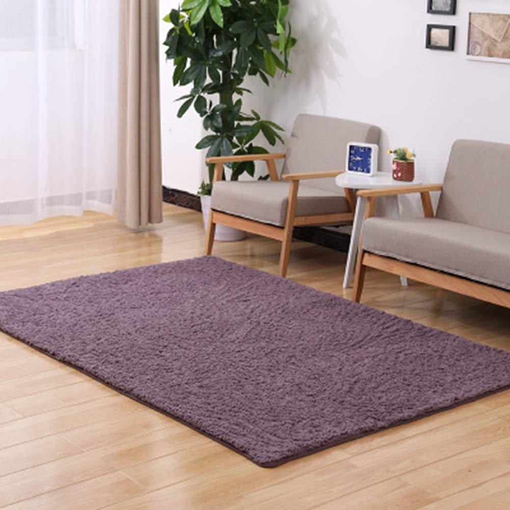 KKONION Area Rugs Solid Color Fashion Soft Carpet Living Room Decor Door Carpets Warm Bedroom Floor Slip Resistant Mats