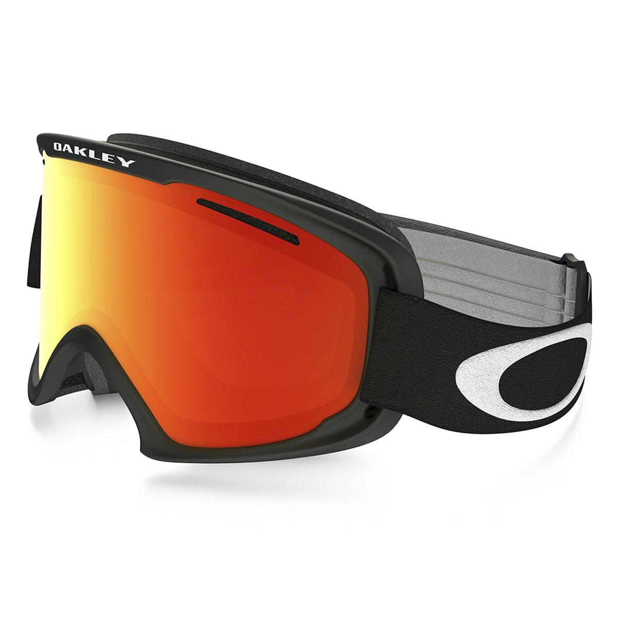 8626e8b32c8 Amazon.com   Oakley O2 XL Matte Mens Asian Fit Snowmobile Goggles - Black Fire  Iridium OS   Ski Goggles   Sports   Outdoors