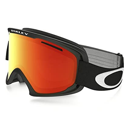 1e0203c8a5f Image Unavailable. Image not available for. Color  Oakley O2 XL Matte Mens  Asian Fit Snowmobile Goggles - Black Fire Iridium OS