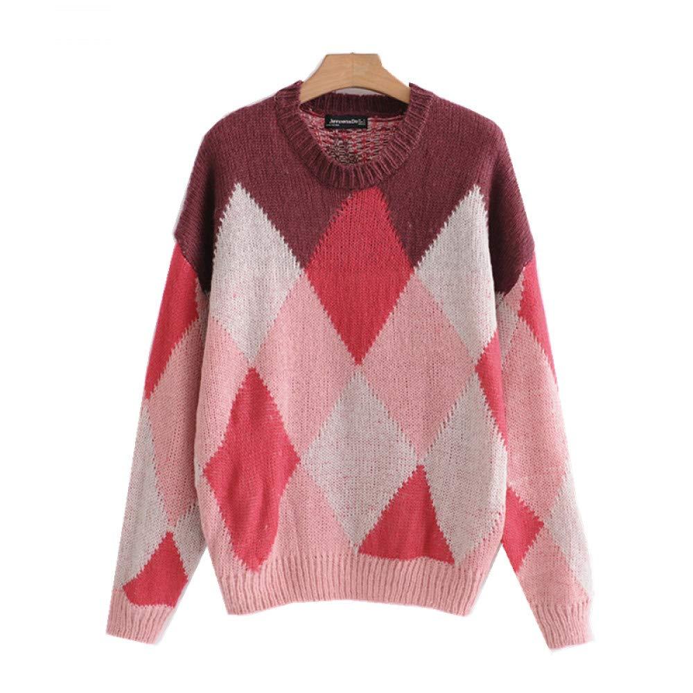 FUHENGMY Pullover Winter Frauen    Oansatz   Pullover Langarm   Lose Gestrickte   Pullover   Weibliche Übergröße