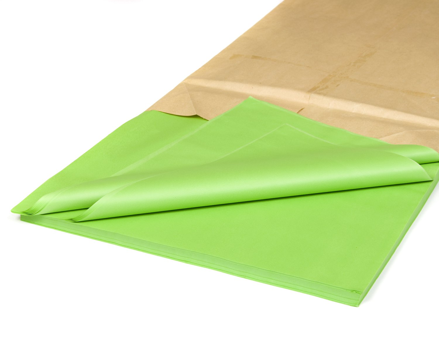 PACK OF 100 LIGHT GREEN QUALITY COLOURED TISSUE PAPER ACID FREE 750mm x 500mm
