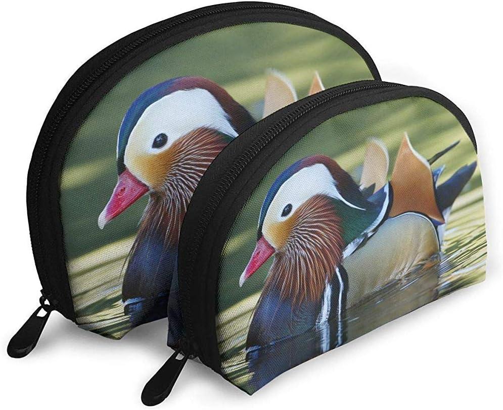 Mandarin Duck Bolsas portátiles Bolsa de Maquillaje Bolsa de Aseo, Bolsas de Viaje portátiles multifunción Pequeña Bolsa de Embrague de Maquillaje con Cremallera