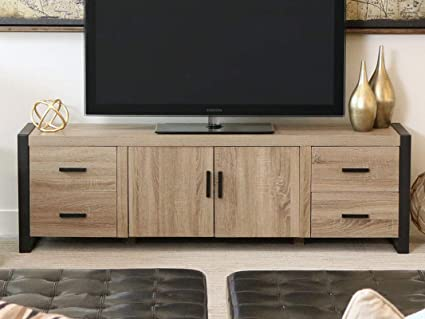 Amazon Com We Furniture 70 Industrial Wood Tv Stand Console
