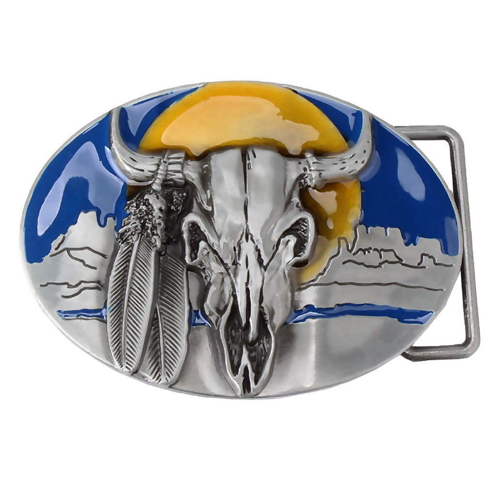 Cowboys of Cow Head Mens Belt Buckle Vintage Western for Jeans Belt Buckle