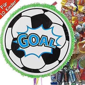 Piñata Juego: * Fútbol * DE 100 piezas con dulces de relleno ...
