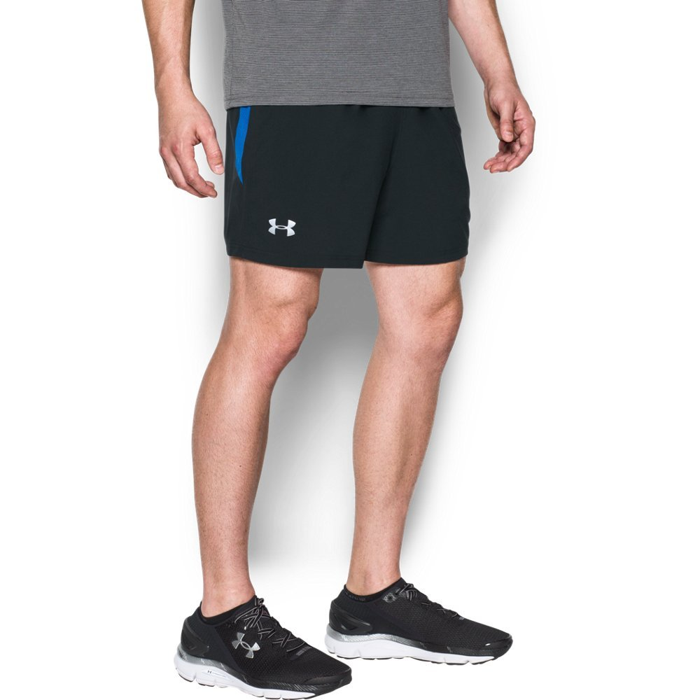 Under Armour Men's Launch 5'' Shorts, Black /Reflective, Small