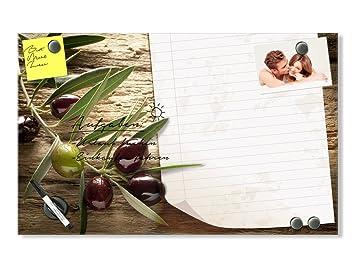 Graz Design® Glas Magnettafel Wandtafel Magnetwand für Küche Oliven ...