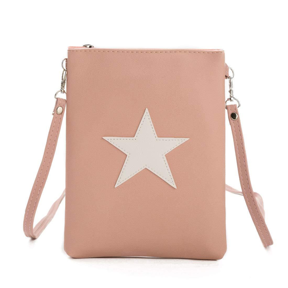 ZIIPOR Crossbody Cell Phone Bag PU Leather Portable Small Purse Wallet With Credit Card Slots