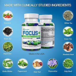FOCUS+ Brain Supplement - 120 ct Doctor Recommended