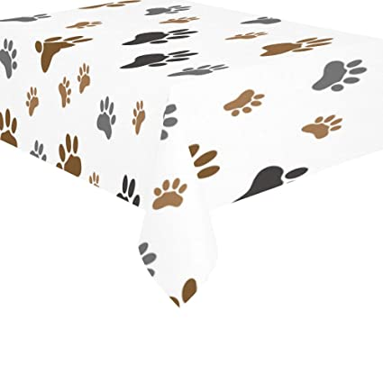 .com: interestprint home decor black brown dog paw cotton ...