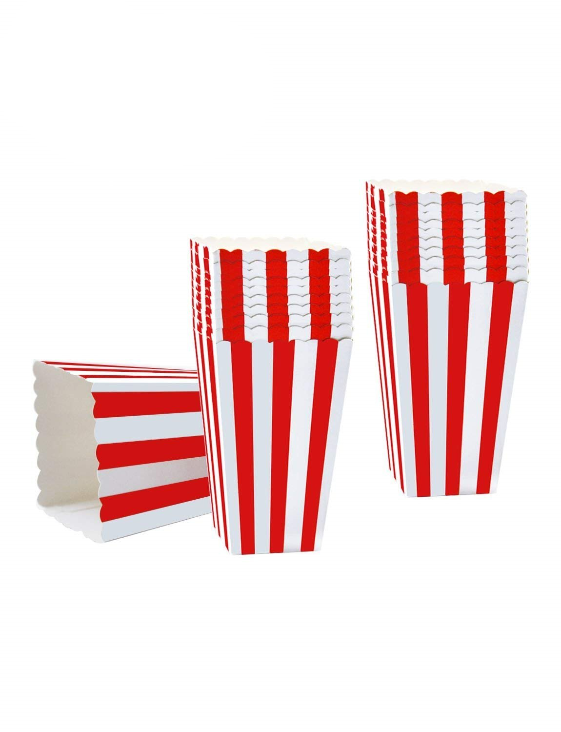 Gardome Popcorn Boxes - 48 Pcs Movie Theater Mini Paper Popcorn Boxes - Great for movie night, Carnival Party Decorations, Wedding or Birthday favor boxes