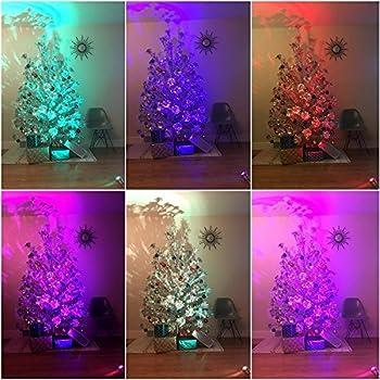 Amazoncom Aluminum Christmas Tree with Color Wheel Set Home