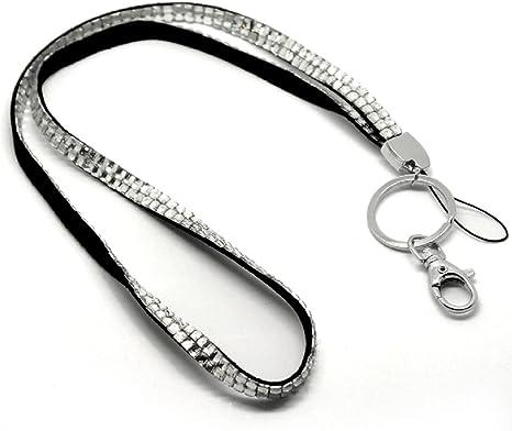 Amazon.com: Llavero con cordón de diamantes de imitación ...