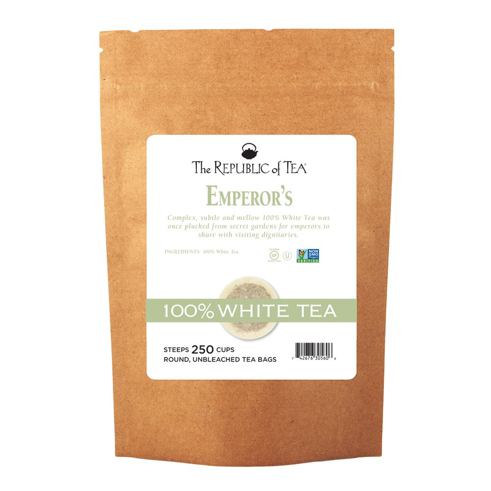 The Republic of Tea Emperor's 100% White Tea, 250 Tea Bags, Gourmet, Zero Calorie, Sugar Free, Carb Free by The Republic of Tea