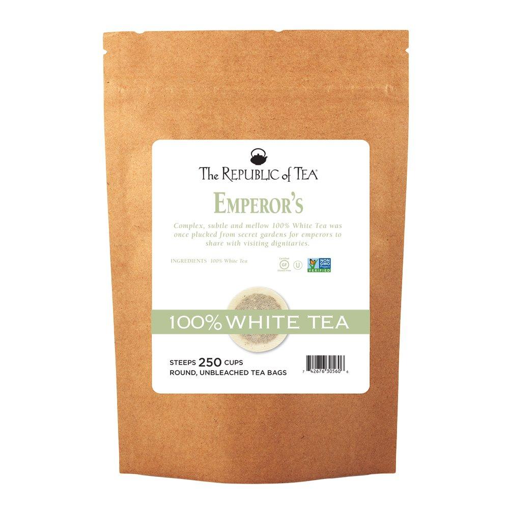 The Republic of Tea Emperor's 100% White Tea, 250 Tea Bags, Gourmet, Zero Calorie, Sugar Free, Carb Free