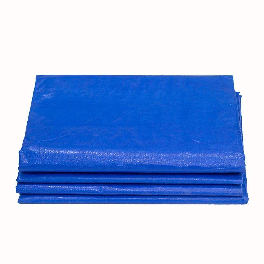 防水性と防雨性のあるブルーキャンバス、高強度、引張強度、無味、マルチサイズオプション(2x3m) (色 : 青, サイズ さいず : 5x8m) 5x8m 青 B07K5C5T7X