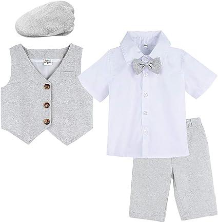 Good Shirt TM Cravatta Clip-on da ragazzo misto da 4 pezzi da 0 a 6 anni o da 7 a 14 anni