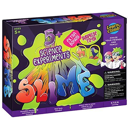 Learn & Climb Slime Making Lab kit for Girls & Boys-Great Chemistry Set for Kids 5-10