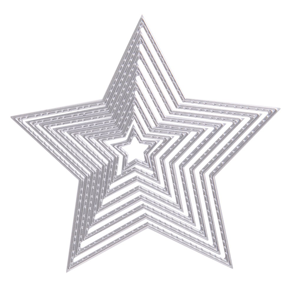 troqueles de corte de metal decoraci/ón de manualidades estrellas /álbumes de recortes Gulang-keng troqueles de corte de Navidad para hacer tarjetas plantilla para manualidades tarjetas de papel