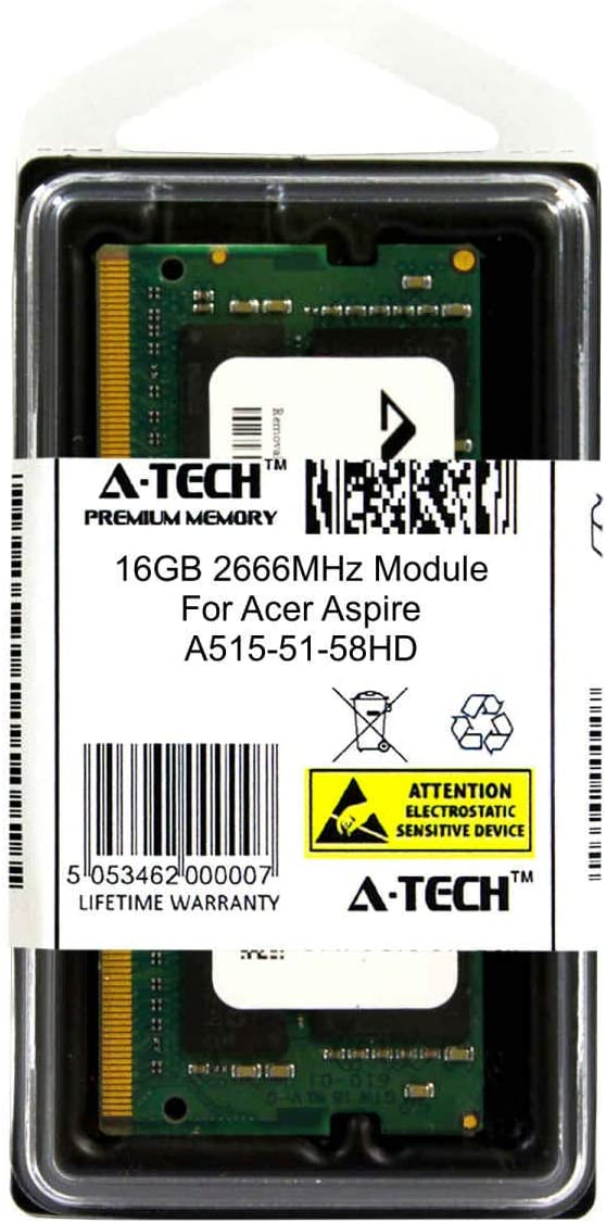 A-Tech 16GB Module for Acer Aspire A515-51-58HD Laptop /& Notebook Compatible DDR4 2666Mhz Memory Ram ATMS267432A25832X1