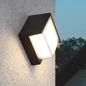 CUICAN Luces de led impermeable de la pared exterior,Moderno Aluminio Aire libre Apliques Jardín Villa Patio Artefacto de iluminación-plaza 10W: Amazon.es: Iluminación