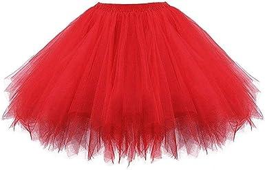 Shineshae - Falda de Tul Corta para niña, tutú, tutú, Minifalda ...