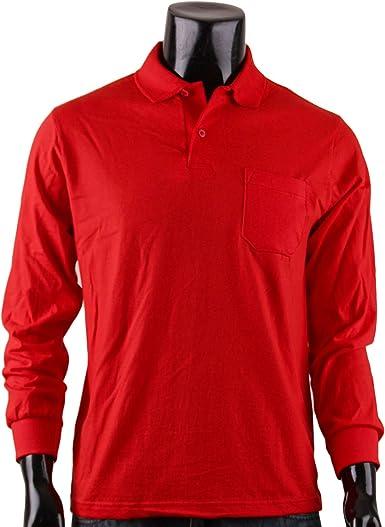 BCPOLO Hombres Scarlet Polo Camisa para Hombre 100% algodón sólido ...