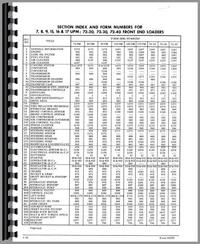 Price comparison product image Euclid 72-30 L25 Front End Loader Service Manual