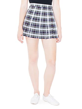4587201439 American Apparel Women's Plaid Tennis Skirt Size L Lellet Plaid at ...