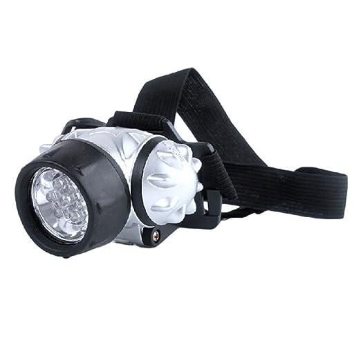 ヘッドライトトーチヘッドランプ12Led防水ストラップ付き調節可能の画像