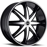 "22"" Inch Strada Magia Gloss Black Machine Wheels Rims 
