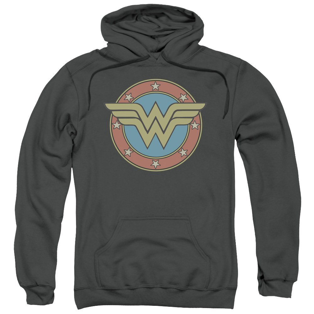 DC Comics Wonder Woman Muted Classic Logo Adult Pull-Over Hoodie Trevco