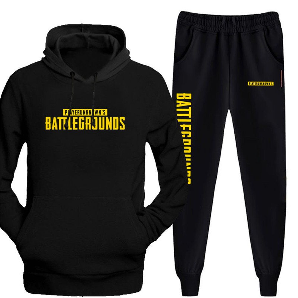 PUBG Sweatshirt Winner Winner Chicken Dinner Hoodie Casual Pants Uniform for Men (X-Large, Color 1) by VOSTE (Image #1)
