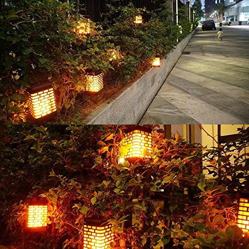 Solar Flame Lights Solar Hanging Lanterns Dancing Flicking Flame Outdoor Waterproof Decoration Umbrella Lantern Night Lights for Garden Patio Yard by Arzerlize (Image #3)