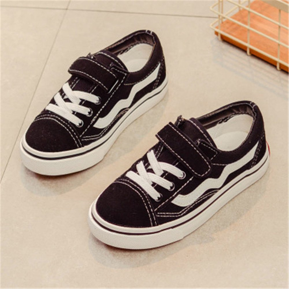 Kids Boys Girls Canvas Sneakers Classic Lace-up Tennis Shoes