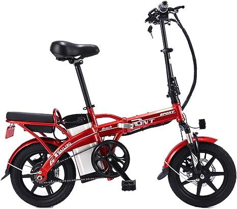 LOVE-HOME 14 Pulgadas Bicicleta Plegable Eléctrica, 48V / 350W ...