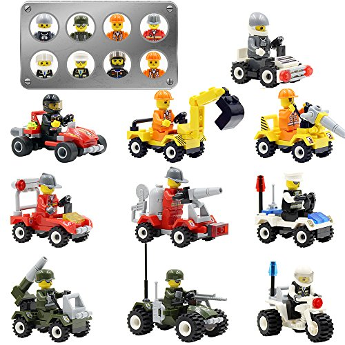 Minifigures Set 10pcs Vehicles Mini Sets Army Men