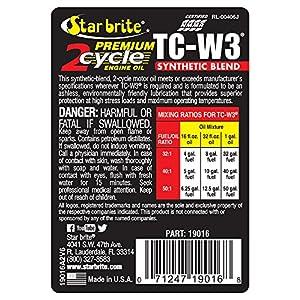 Star brite Premium 2-Cycle Engine Oil TC-W3 - 16 oz