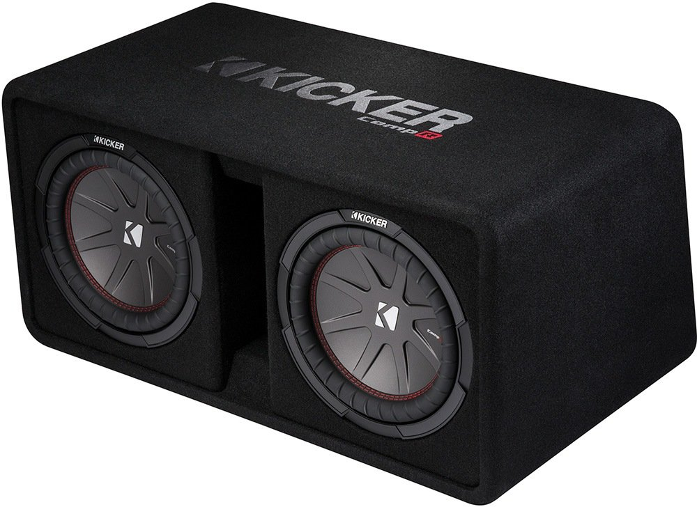Kicker CompR Dual 10 Subwoofers in Vented Enclosure