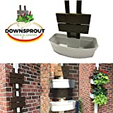 Downsprout Vertical Planter, Gutter Garden, Post Planter, Pergola Post Planter, Deck Planter, Living Wall (2)